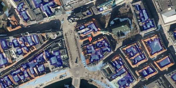 Ekstrem regn på Lille Kirkestræde 5, kl. , 1072 København K