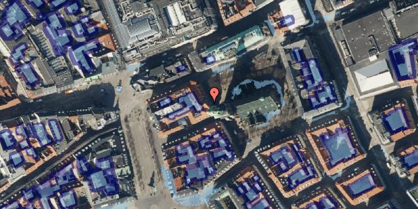 Ekstrem regn på Nikolaj Plads 26, kl. , 1067 København K