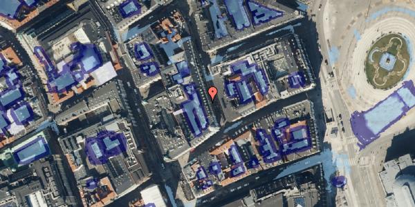 Ekstrem regn på Ny Østergade 3, kl. 2, 1101 København K