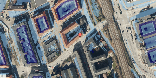 Ekstrem regn på Vordingborggade 93, kl. , 2100 København Ø