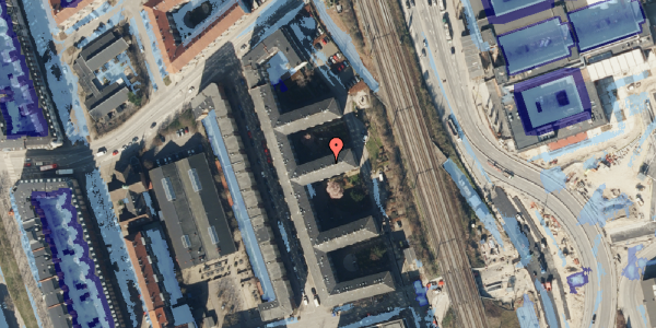 Ekstrem regn på Østbanegade 153, 5. tv, 2100 København Ø