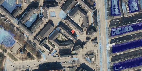 Ekstrem regn på Østerfælled Torv 21, 2100 København Ø