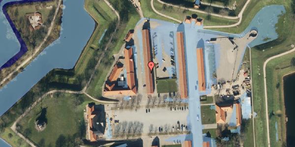 Ekstrem regn på Kastellet 66, 2100 København Ø