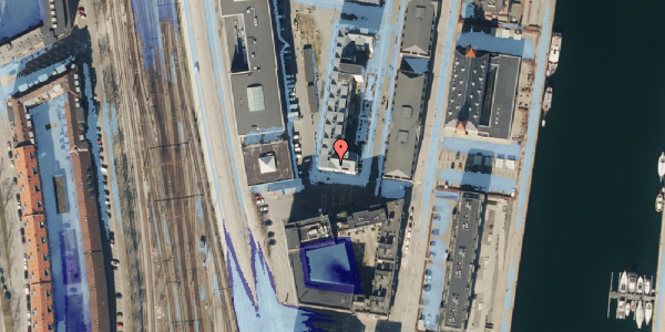 Ekstrem regn på Amerika Plads 4, 6. 2, 2100 København Ø