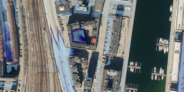 Ekstrem regn på Amerika Plads 3D, 2. mf, 2100 København Ø