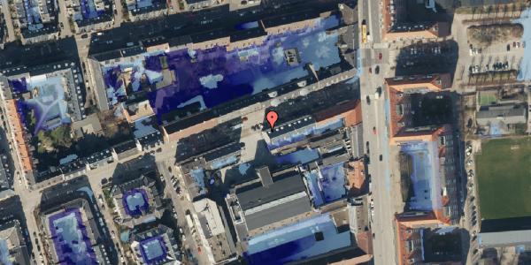 Ekstrem regn på Nygårdsvej 3D, 2100 København Ø