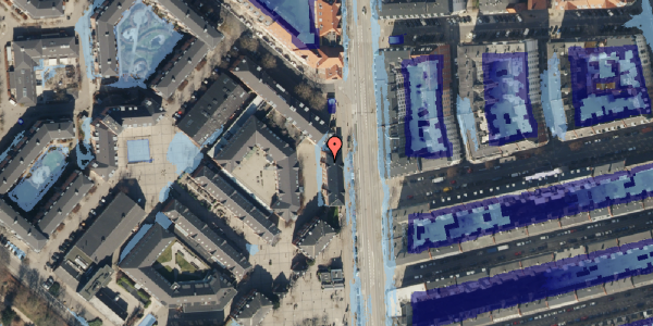 Ekstrem regn på Østerfælled Torv 8, 2100 København Ø