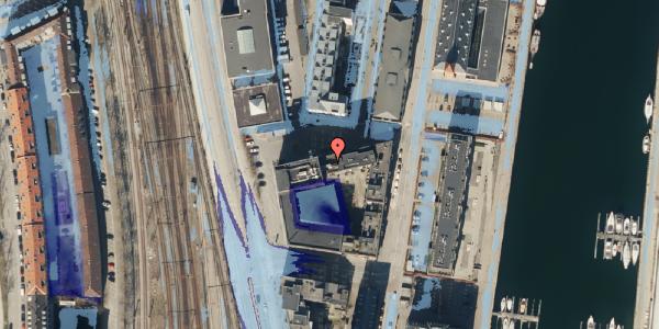 Ekstrem regn på Amerika Plads 5, 2100 København Ø