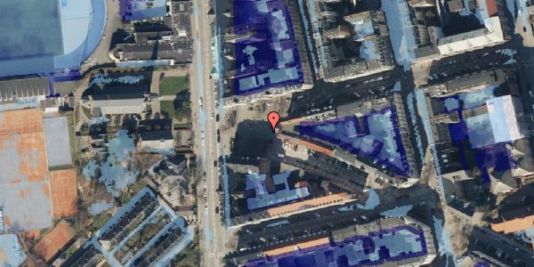 Ekstrem regn på Sankt Jakobs Plads 8, 2100 København Ø