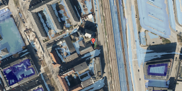Ekstrem regn på Østbanegade 87, 2100 København Ø