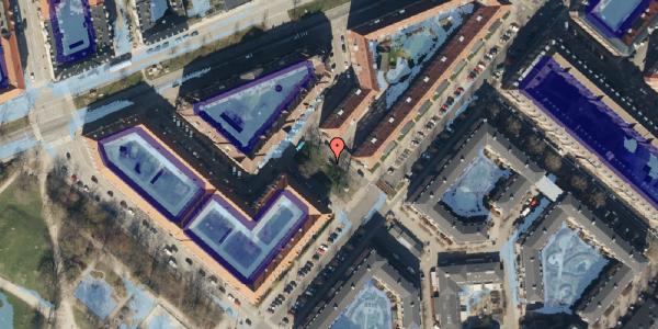 Ekstrem regn på Ove Rodes Plads 2, 2100 København Ø