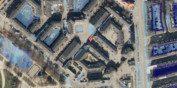 Ekstrem regn på Østerfælled Torv 35, 2100 København Ø