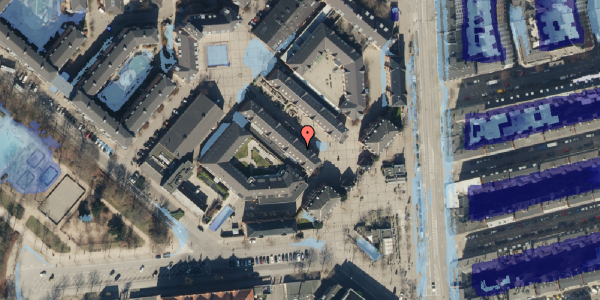 Ekstrem regn på Østerfælled Torv 19, 2100 København Ø