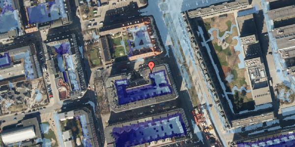 Ekstrem regn på Vejlegade 10, kl. 7, 2100 København Ø