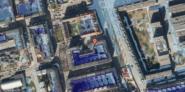 Ekstrem regn på Vejlegade 10, kl. 6, 2100 København Ø