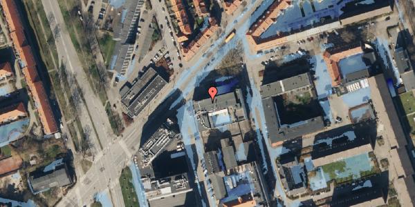 Ekstrem regn på Haraldsgade 70, 1. , 2100 København Ø