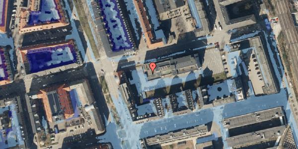 Ekstrem regn på Århusgade 102, 2100 København Ø