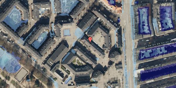 Ekstrem regn på Østerfælled Torv 24, 2100 København Ø