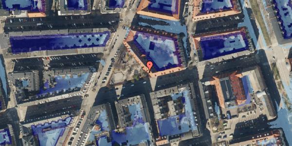 Ekstrem regn på Århus Plads 1, 2100 København Ø
