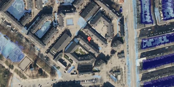 Ekstrem regn på Østerfælled Torv 27, 1. , 2100 København Ø