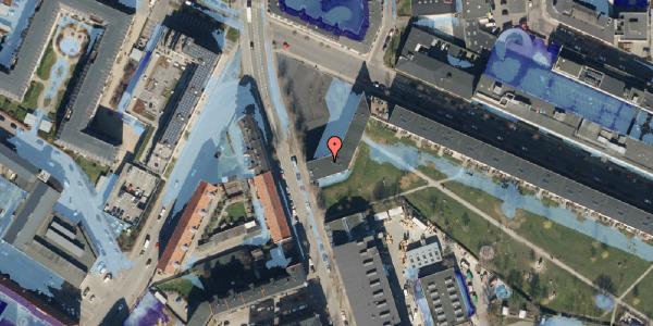 Ekstrem regn på Frederiksborgvej 36, 2400 København NV