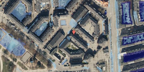 Ekstrem regn på Østerfælled Torv 33, 2100 København Ø