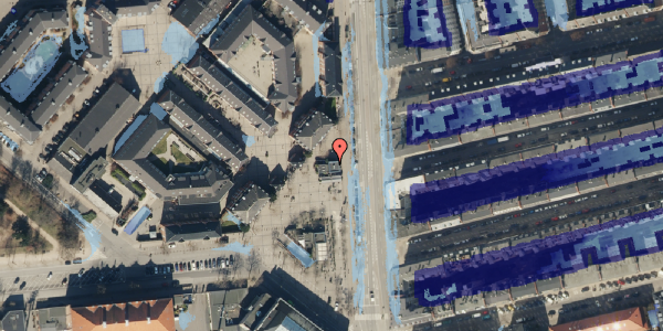 Ekstrem regn på Gunnar Nu Hansens Plads 8, 2100 København Ø