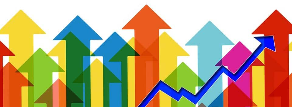 grafico barre crescita impresa commerciale