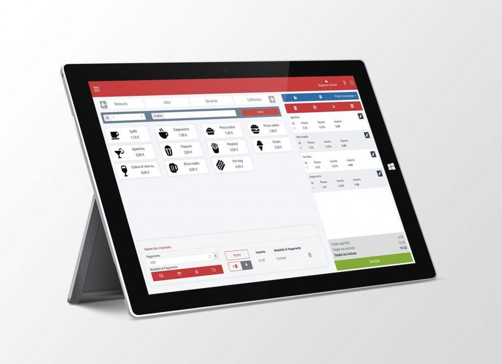 programma magazzino touch screen