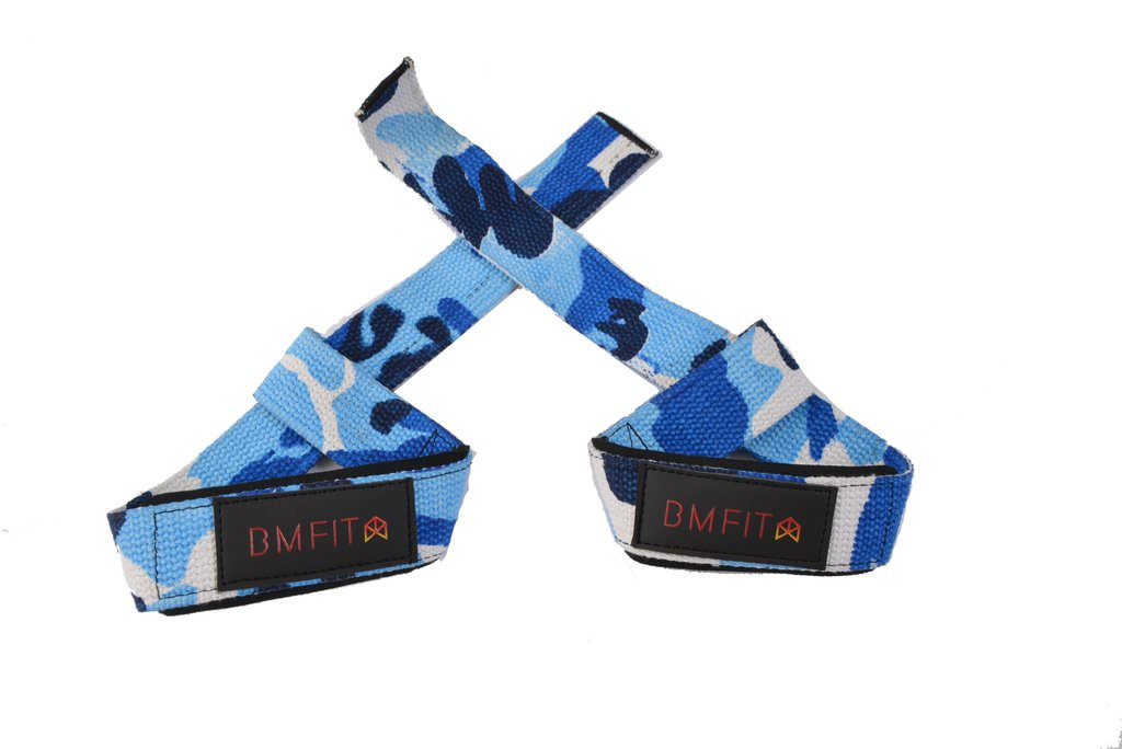 BMFIT Lifting Straps - Camo Blue