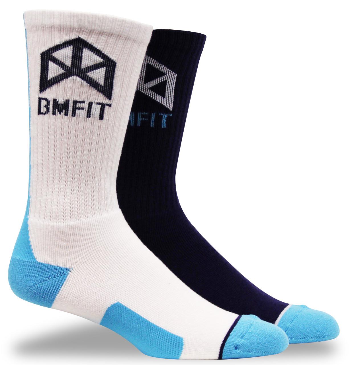 BMFIT Blue/White Socks