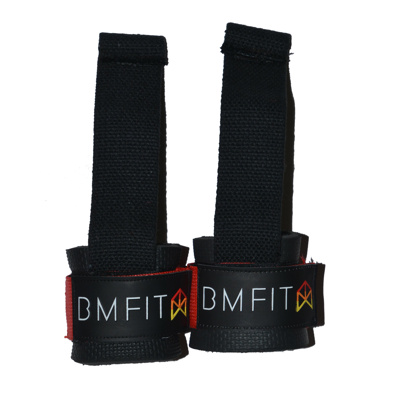 BMFIT Bodybuilding Straps - Red