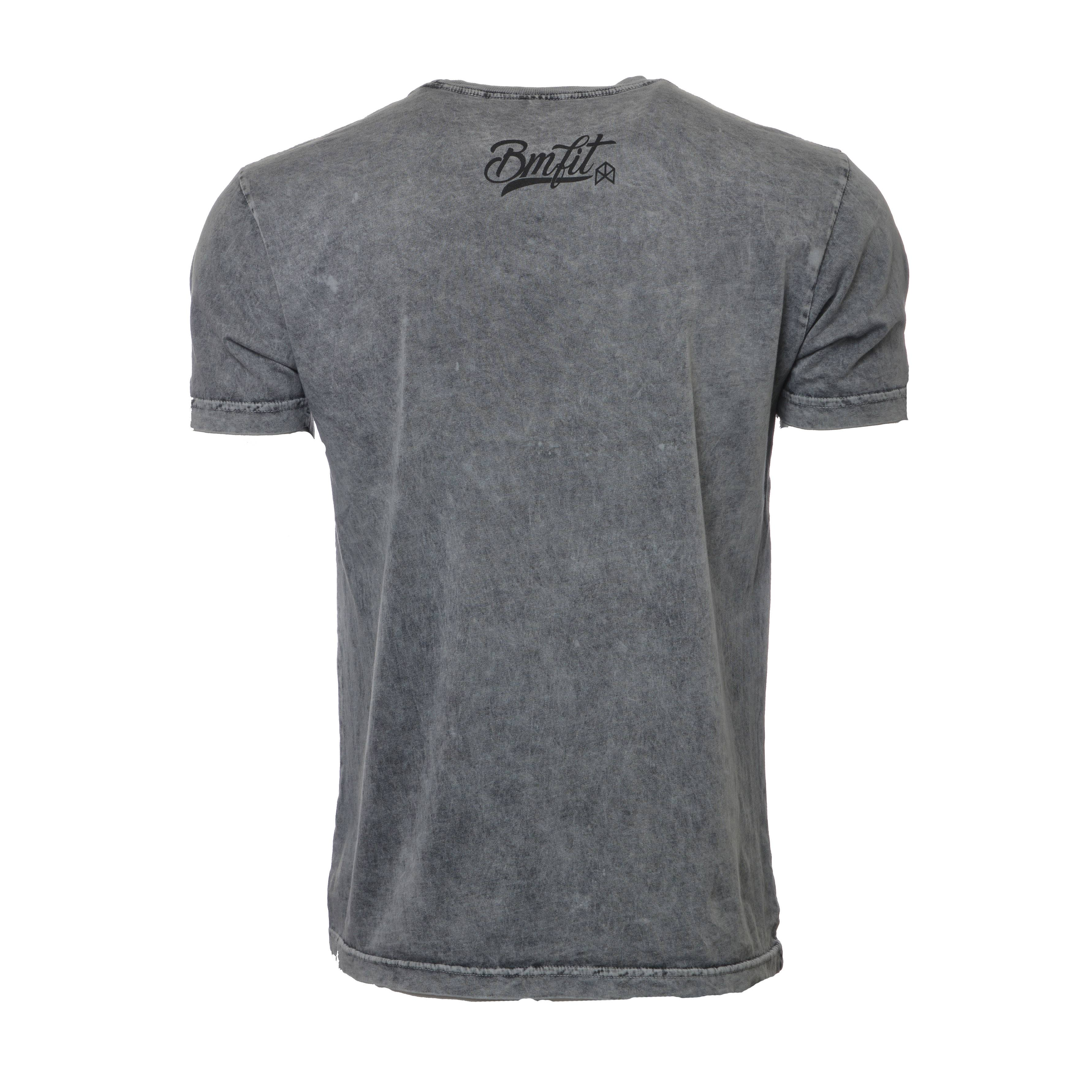 BMFIT Mineral Wash Short Sleeve - Gray