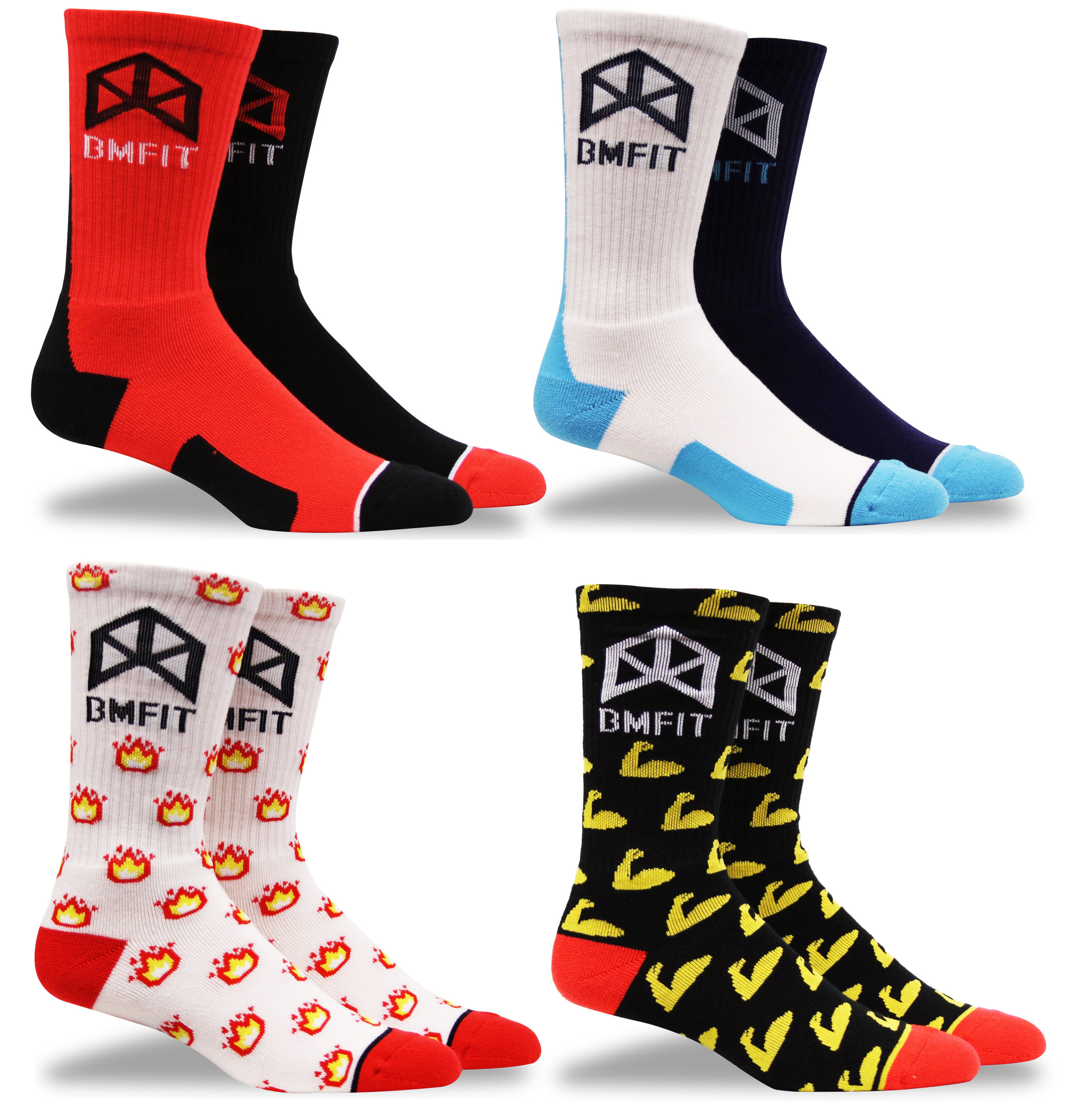 BMFIT Socks ALL FOUR PACKAGE