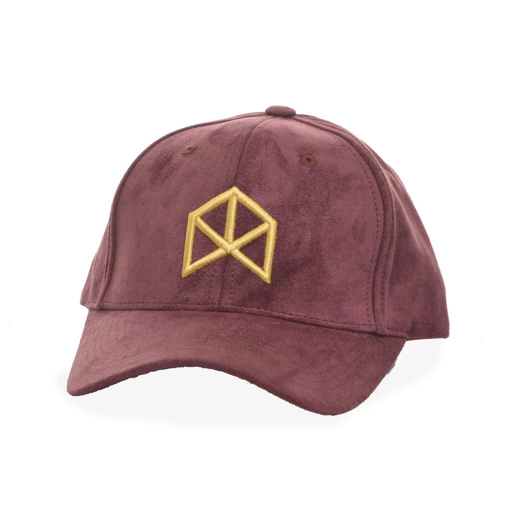 BMFIT Suede Hat - Burgundy/Gold Symbol