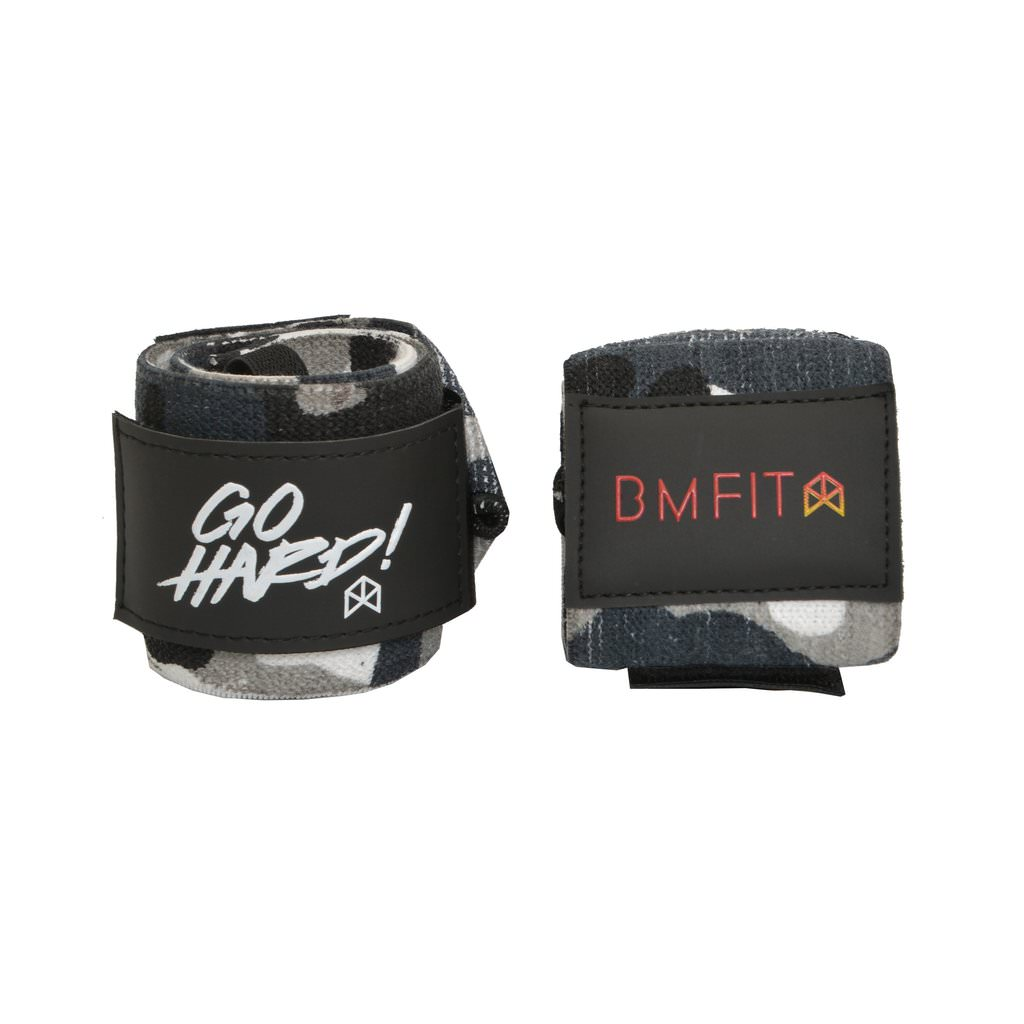 BMFIT Go Hard Wrist Wraps 18'' - Camo Black