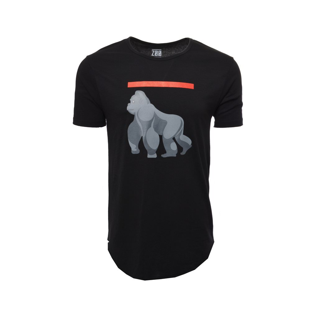 Gorilla Elongated Tees - Black