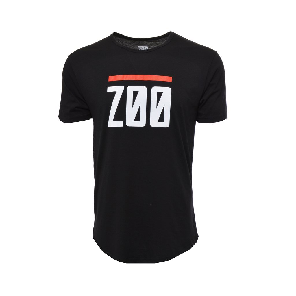 Zoo Elongated Tee - Black
