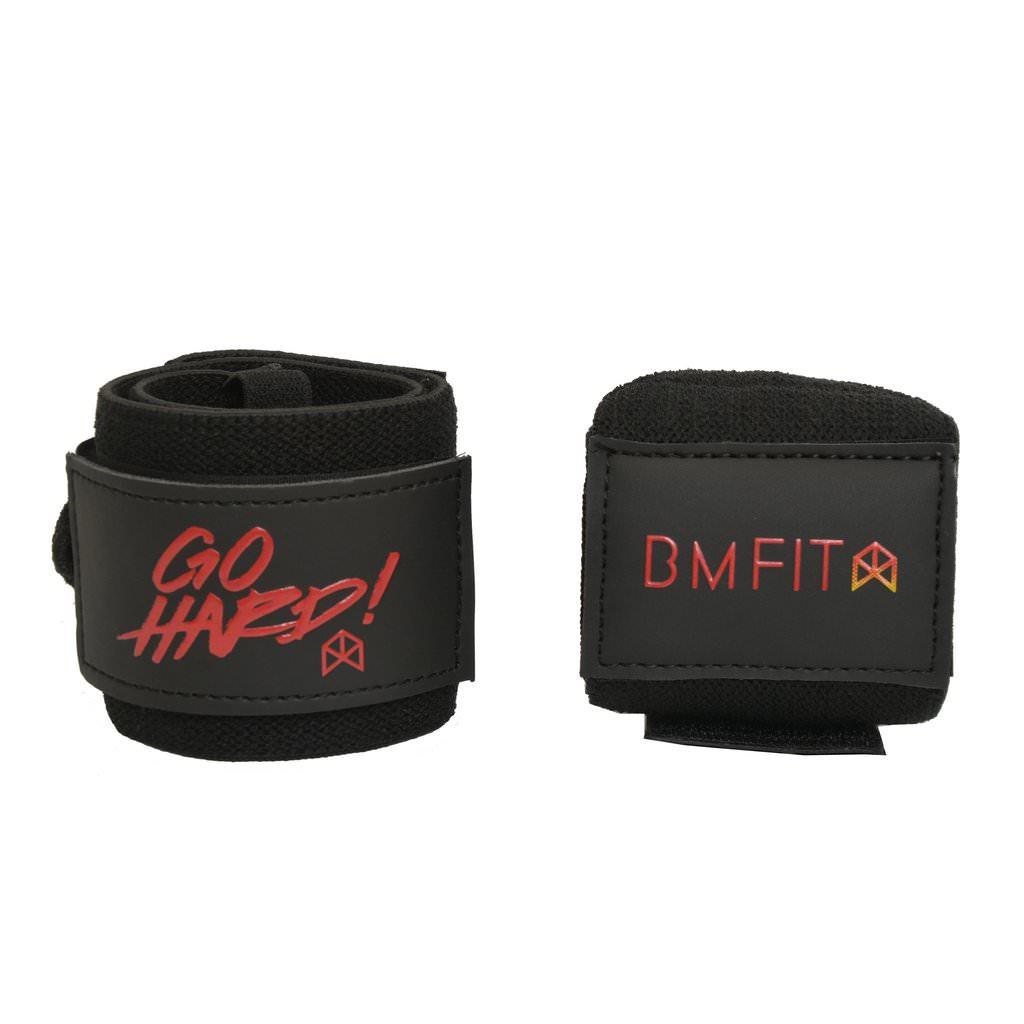 BMFIT Go Hard Wrist Wraps 18'' - Black
