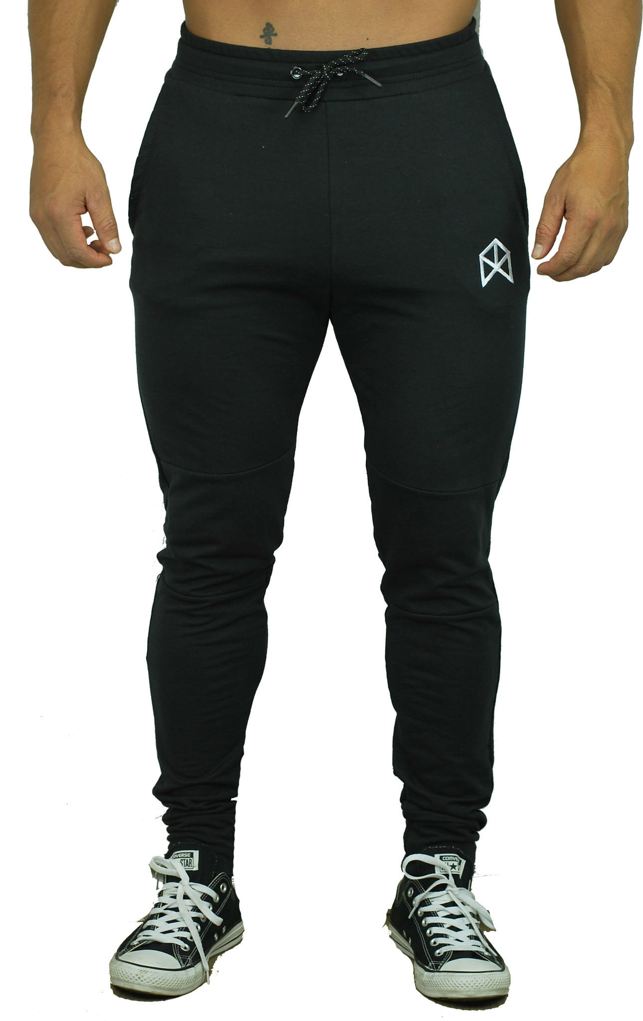 BMFIT Training Relaxed Cotton Joggers - Black