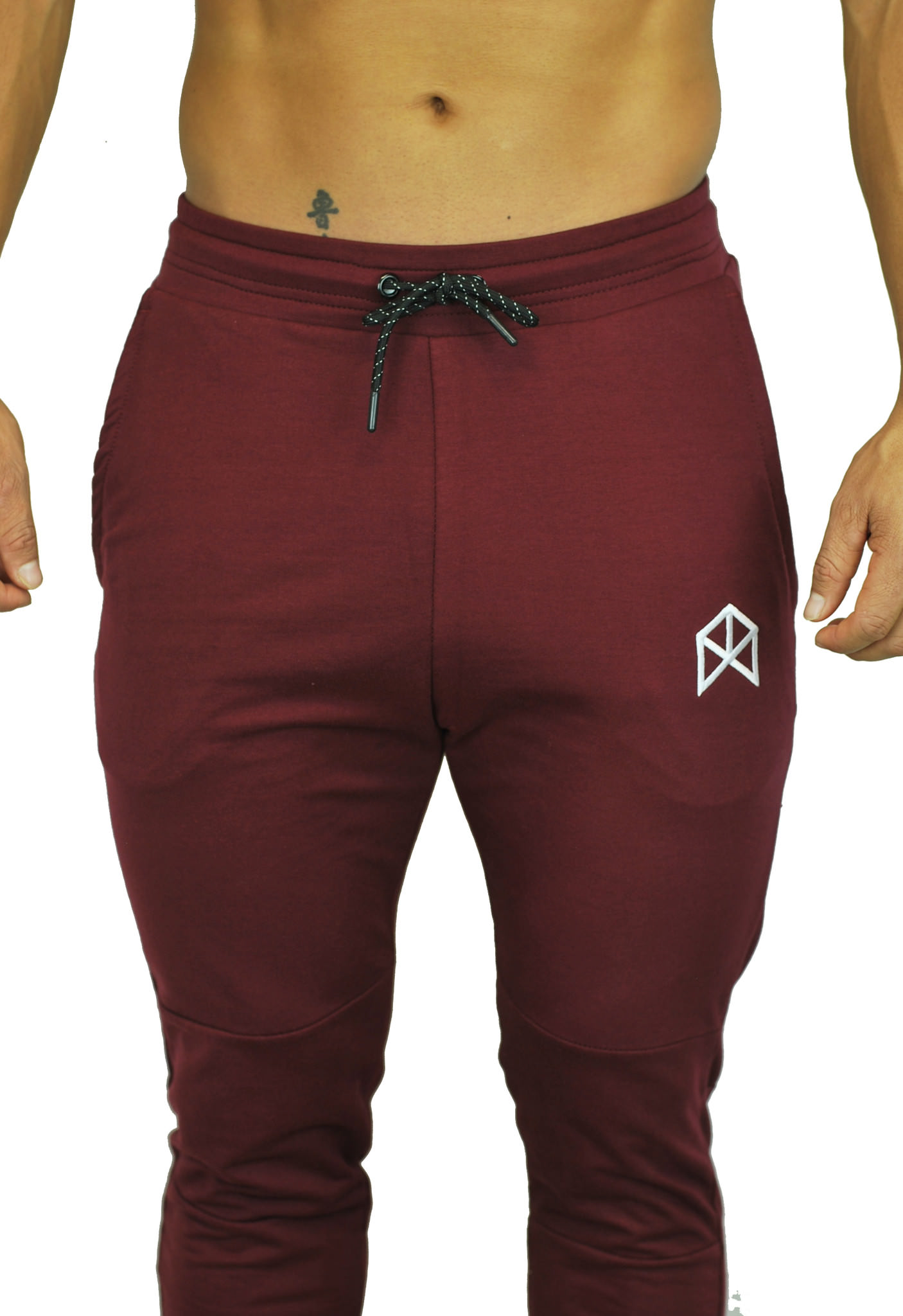 BMFIT Training Relaxed Cotton Joggers - Burgundy