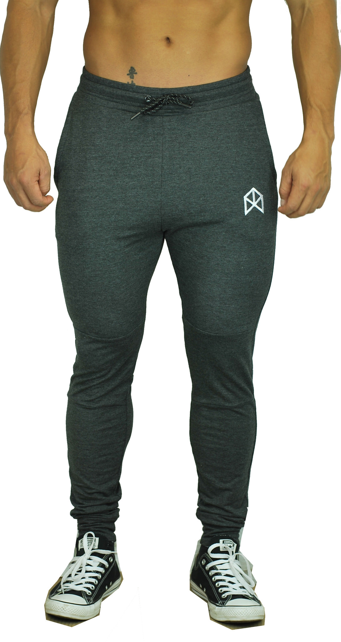 BMFIT Training Relaxed Cotton Joggers - Charcoal