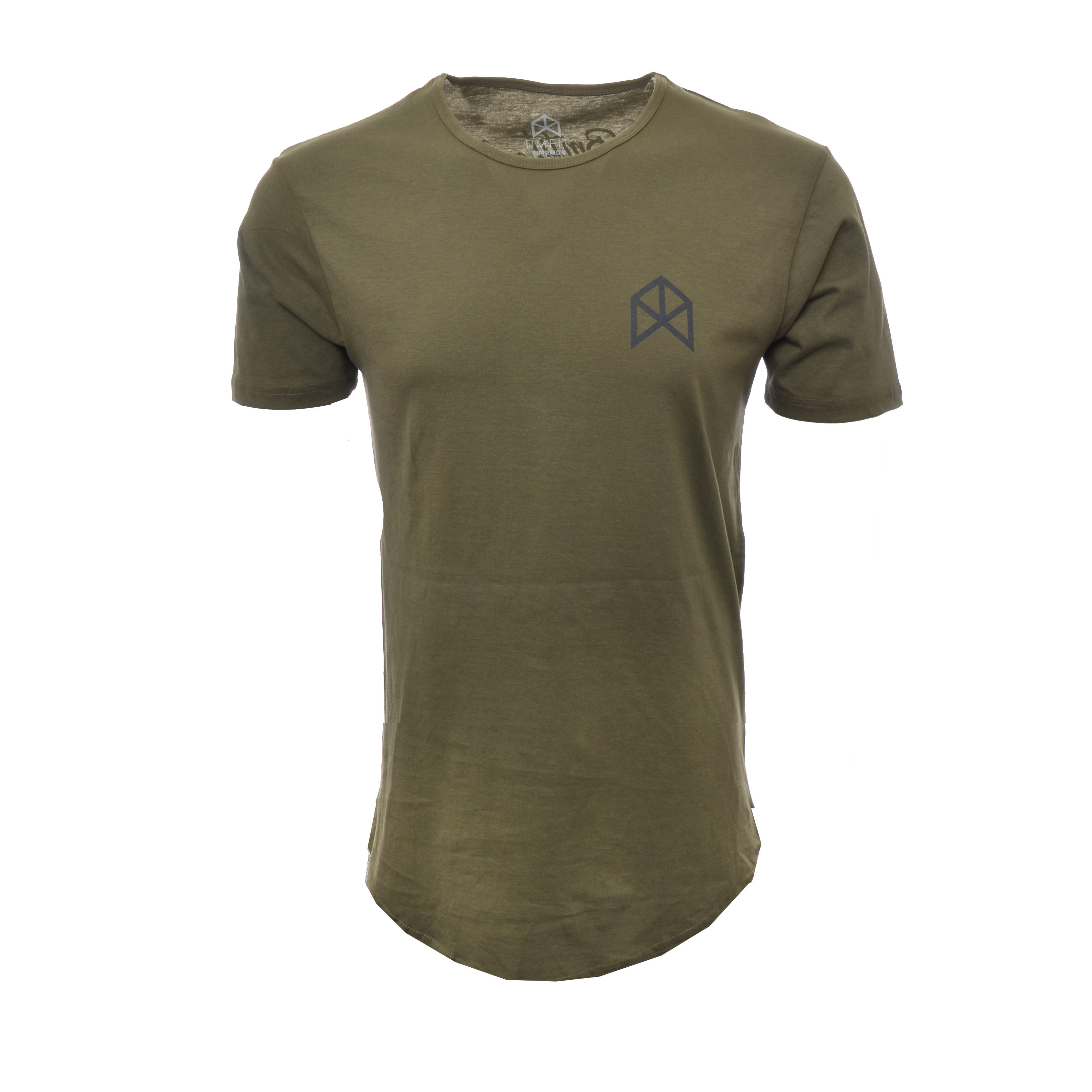BMFIT Elongated Basic Tees - Olive