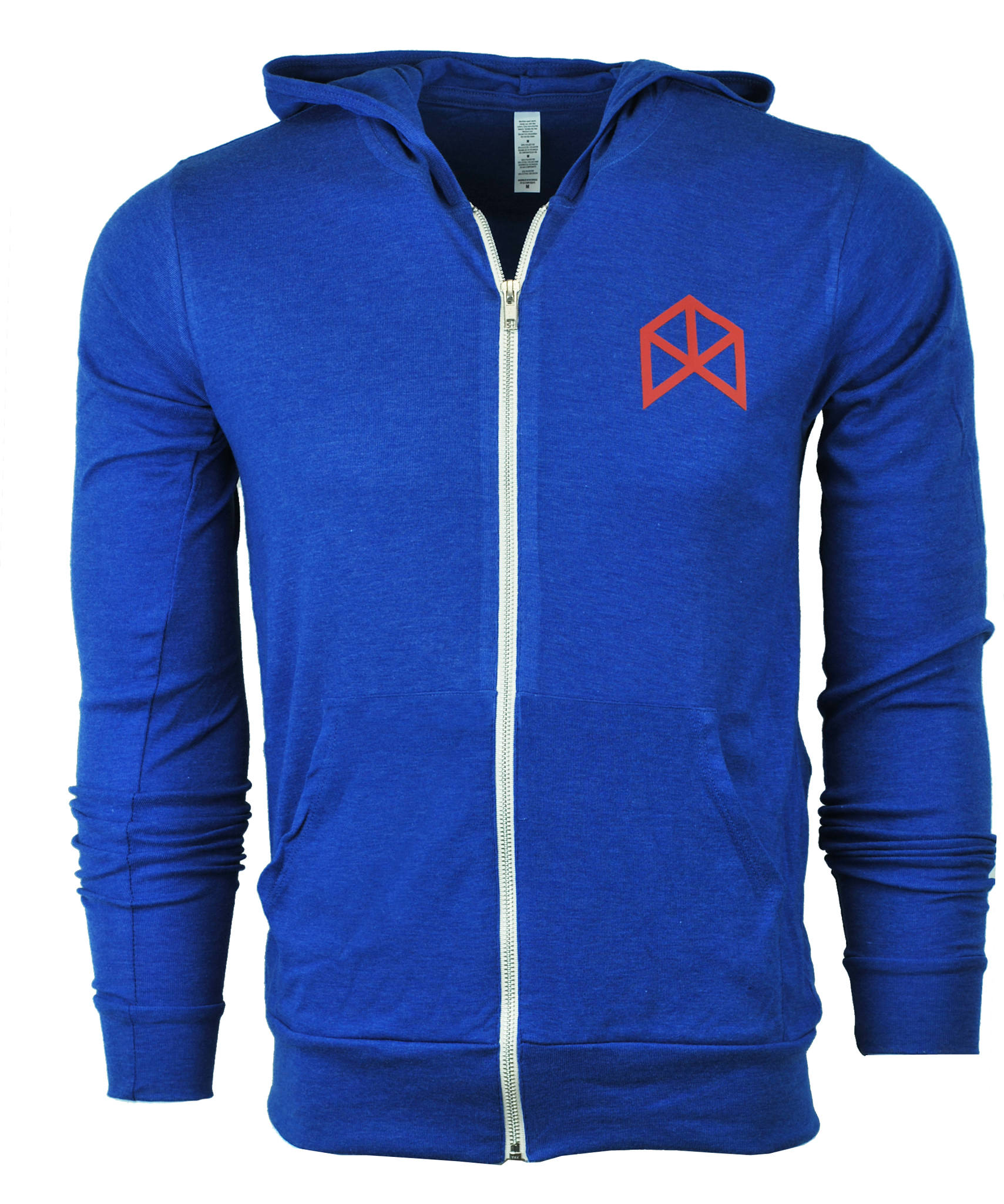 Royal Blue Zip Up Hoodie - Baggage Clothing