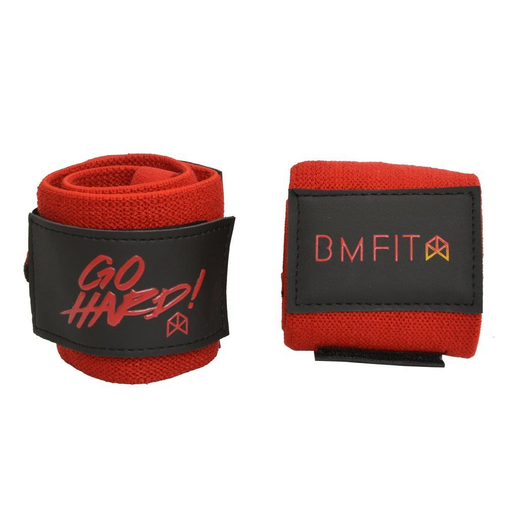 BMFIT Go Hard Wrist Wraps 18'' - Red