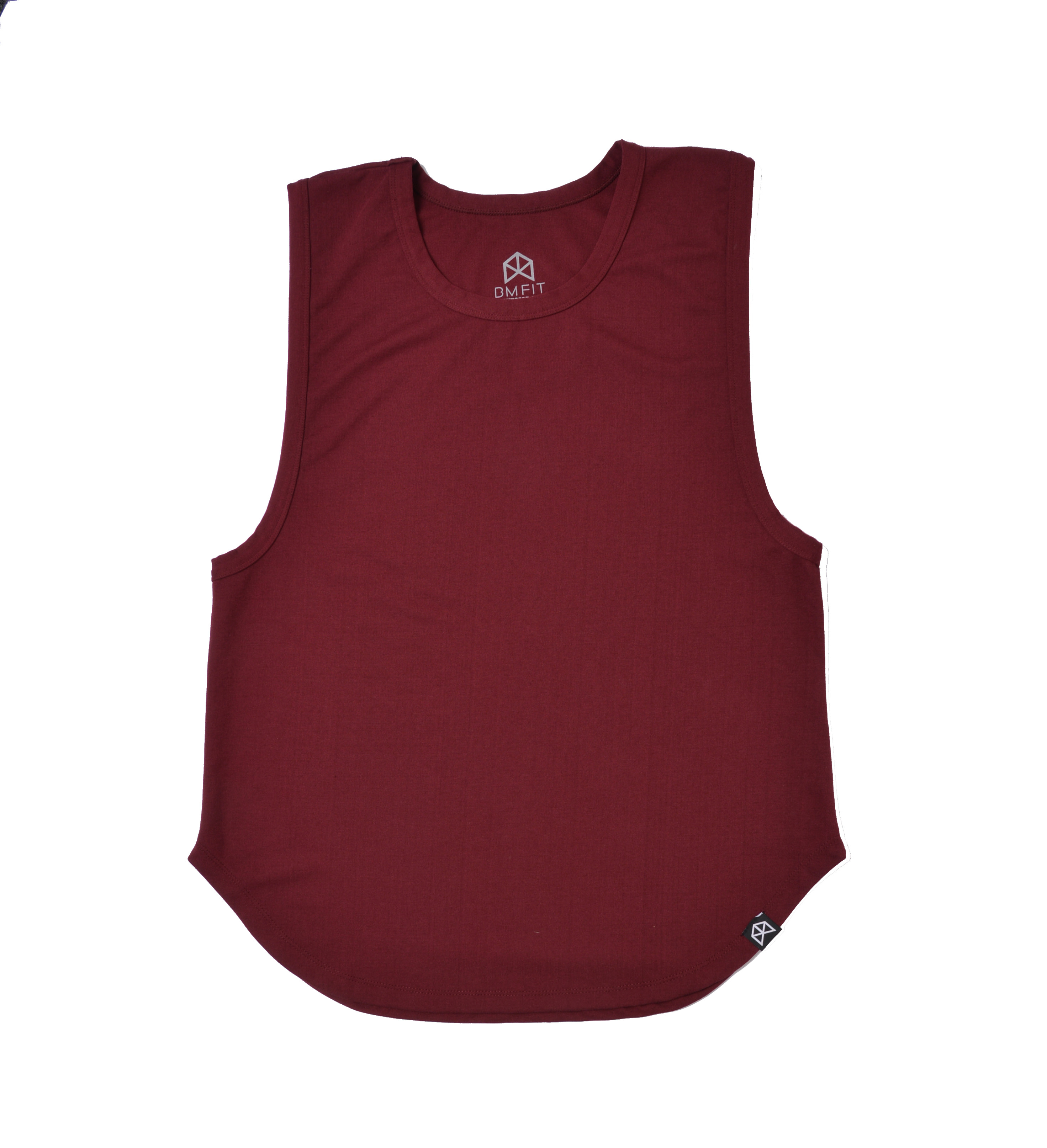 BMFIT Polyester Muscle Tanks - Burgundy