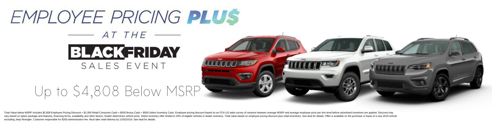 Jeep Employee Pricing Black Friday
