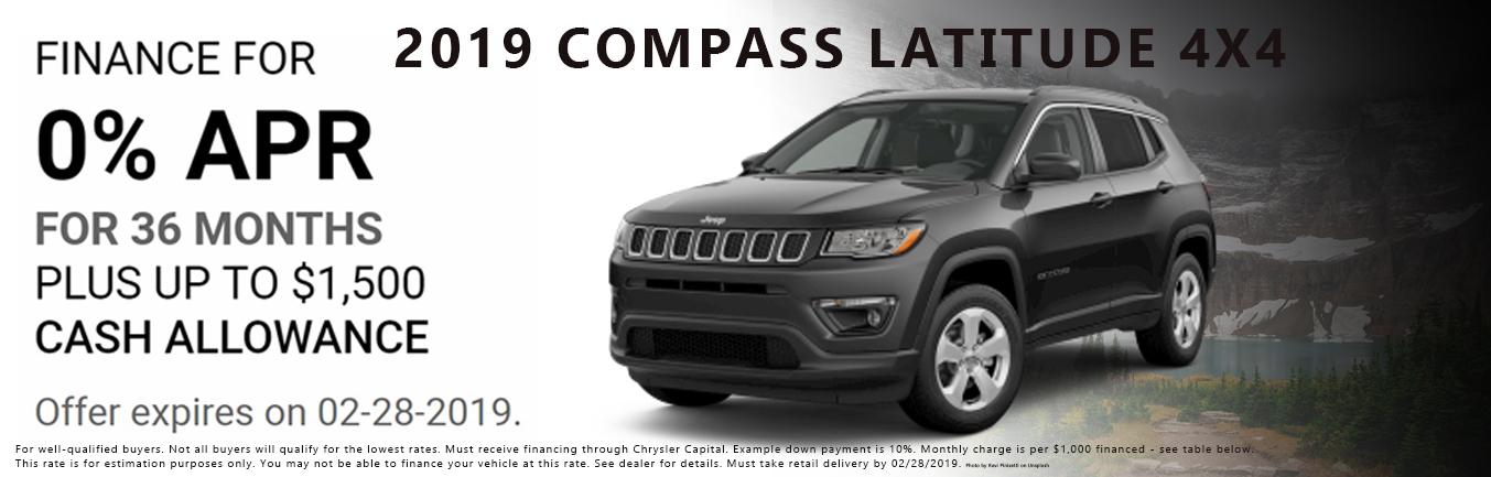 2019 Jeep Compass Incentive