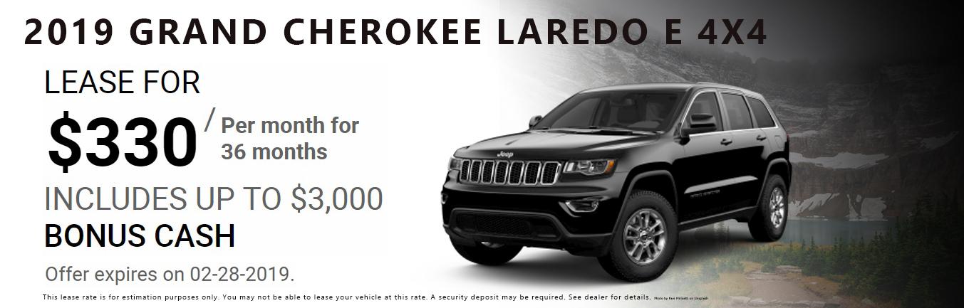 2019 Jeep Grand Cherokee Laredo E 4x4 Lease