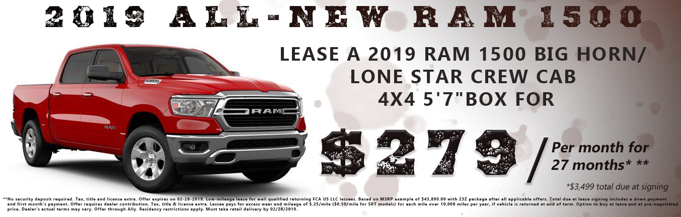 2019 All-New Ram 1500 Lease